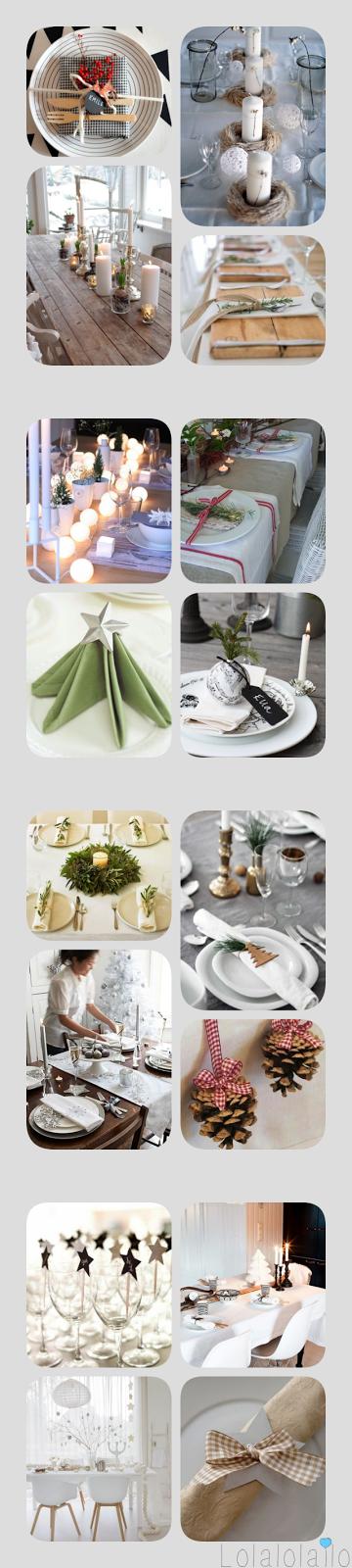 Lolalolailo blog ideas para decorar tu casa en navidad - Decorar mesa navidad manualidades ...
