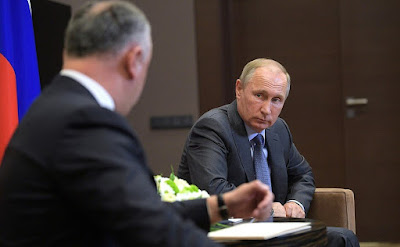 Vladimir Putin at the meeting with President of Moldova Igor Dodon.