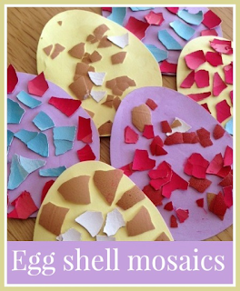 Dyed eggshell Easter Egg mosaic craft
