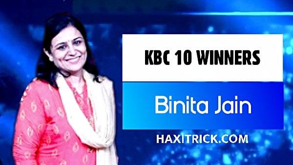 KBC Season 10 Winner Binita Jain 2018