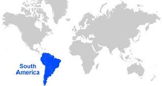 Gambar Peta letak Amerika Selatan