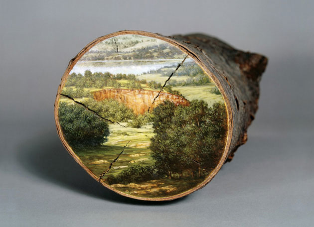06-Log-Series-Alison-Moritsugu-Landscape-Painting-on-Tree-Logs-www-designstack-co