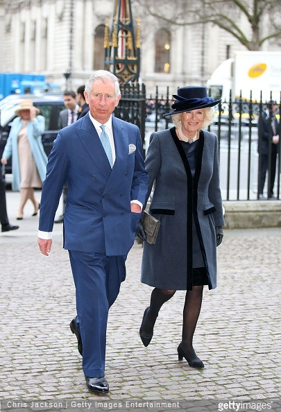 Camilla, Duchess of Cornwall and Prince Charles, Prince of Wales attend the Observance for Commonwealth Day Service At Westminster Abbey