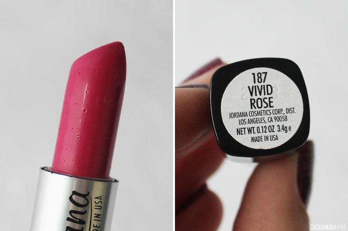 JORDANA // Lipstick Collection + Swatches - Vivid Rose - cassandramyee