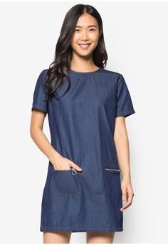 Dorothy Perkins' indigo denim zipped tunic dress, S$53.90 from Zalora