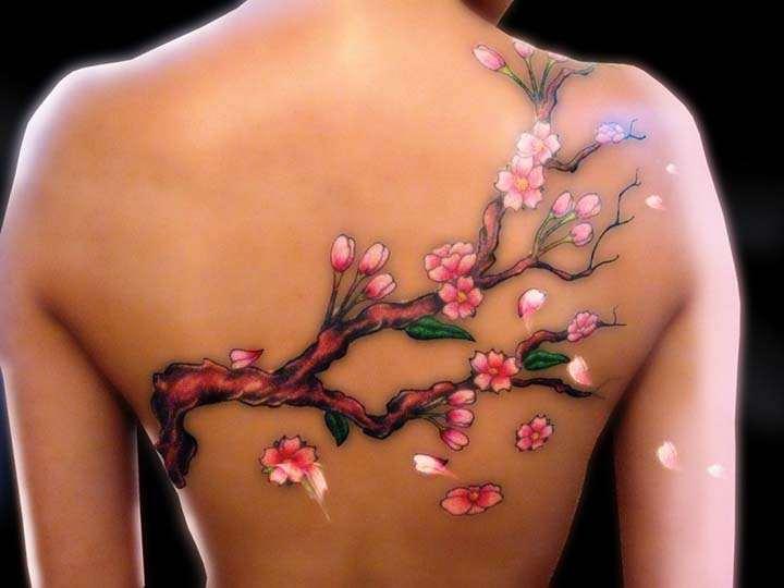 sırtta dövme resimleri