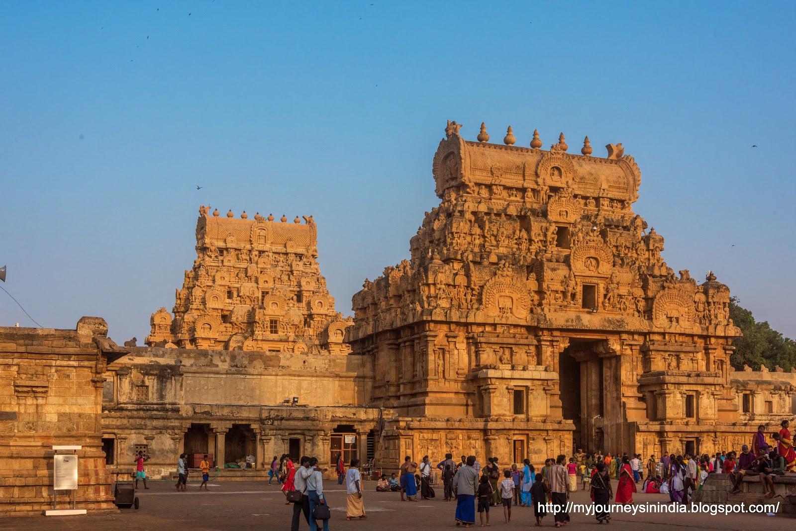 Thanjavur Brihadeeswarar Temple Entrance Tower View