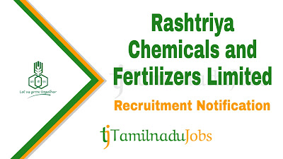RCFL Recruitment notification 2019, govt jobs for diploma, govt jobs for graduate,