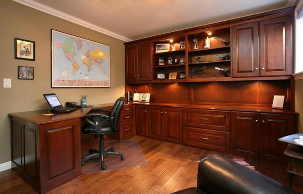 25 perfect custom built desks home office for Unique home office