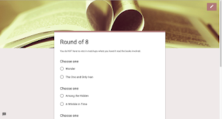 Book Madness: Details for Setup and Implementation - round of 8 voting