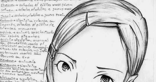 Calique Ilustrações: Rosto estilo Mangá Feminino