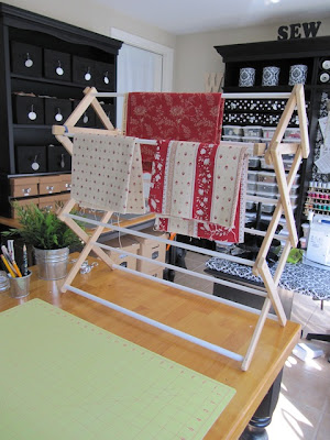 drying rack for quilt fabric