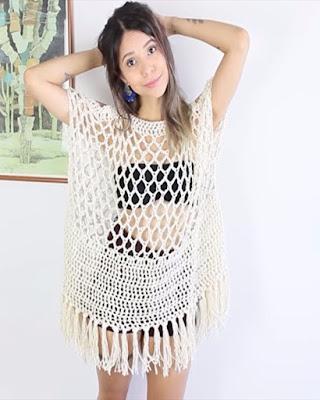 vestido de baño con tunica transparente tumblr de playa temporada de verano 2018
