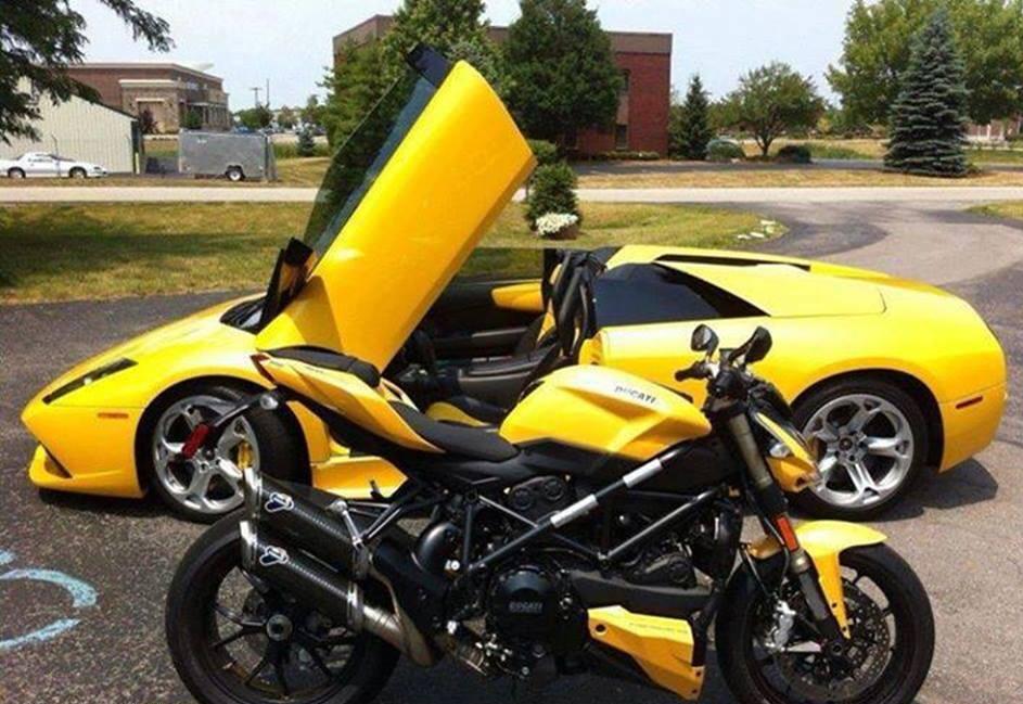 Car Bike Fanatics Lamborghini Murcielago With Ducati
