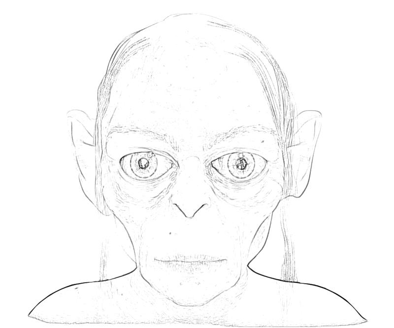 Gollum Free Colouring Pages