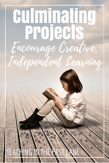 Encourage creative, independent thinking with culminating projects that integrate research, math, writing, art, speaking, listening, and map skills to review skills you have worked on all year!
