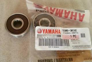 ukuran kode nomor bearing roda depan velg ban vixion new lightning advance NVL NVA
