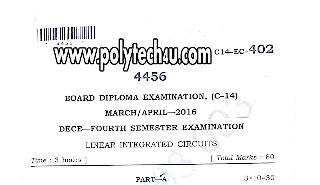 c-14 dece linear integrationcircuits old question papers