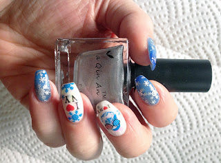Best Silver Stamping Polish, born pretty, stamping polish born pretty, konad, MDU, snowflake design, nail art christmas