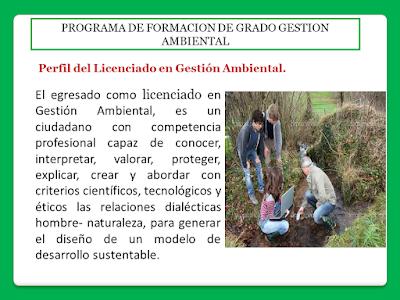 Perfil del Licenciado en Gestión Ambiental