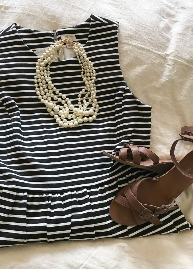 Striped J.Crew dress on sale
