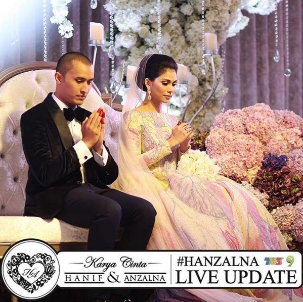 Gambar kahwin Anzalna Nasir dan Hanif Zaki