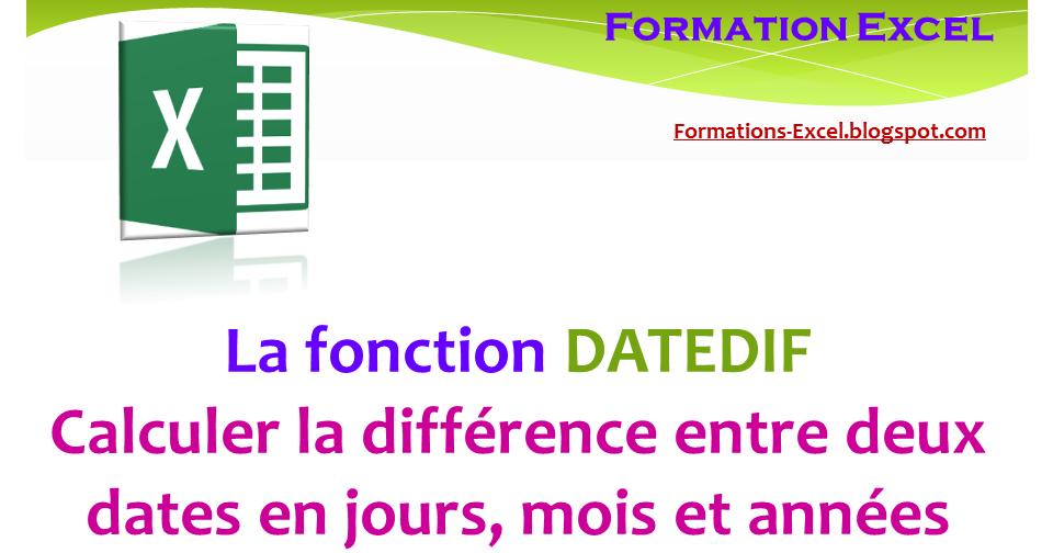 La fonction cach e datedif calculer la diff rence entre deux dates en jours mois et ann es - Difference entre extracteur et centrifugeuse ...