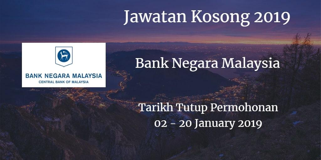 Jawatan Kosong BNM 02 - 20 January 2019