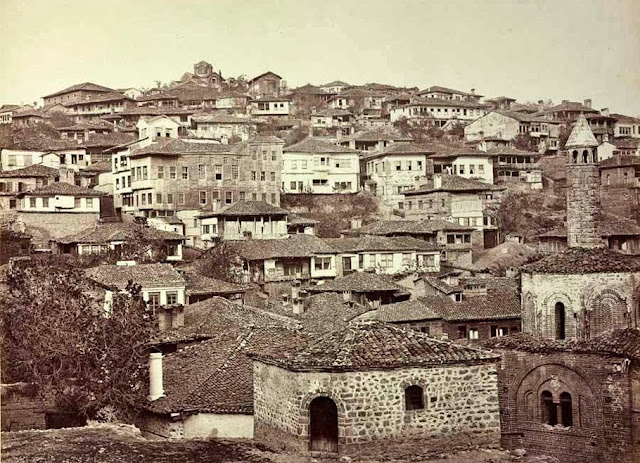 Ohrid close up End of September 1863 - Macedonia in 1863 - Photo Collection of Josef Székely