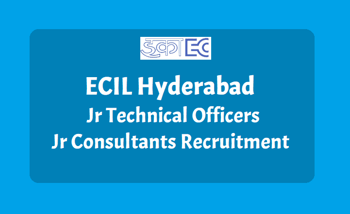 Electronics Corporation of India Limited (ECIL) has released Notification for 2100 Junior Technical Officer & Junior Consultant (Field Operation Gr- I & Gr-II) Posts.  Candidates can Apply through Online from 26.12.2018 (14.00 hrs) to 05.01.2019 (16.00 hrs) ECIL announced Job notification to hire candidates who completed B.Tech/B.E, ITI, Diploma for the position of Junior Technical officers ECIL Notification is out. ECIL is recruiting for 506 Junior Technical Officer And Junior Consultant Posts Posts. Technical Officer/ Jr. Consultant Field Operation Gr-I II Jobs in ECIL - Hyderabad. Advt. No.36/2018 Jr. Technical Officer/ Jr. Consultant.How to Apply Vacancies details Important dates Get Complete Details here  ecil-junior-technical-officers-jtos-and-consultants-jobs-recruitment-get-details