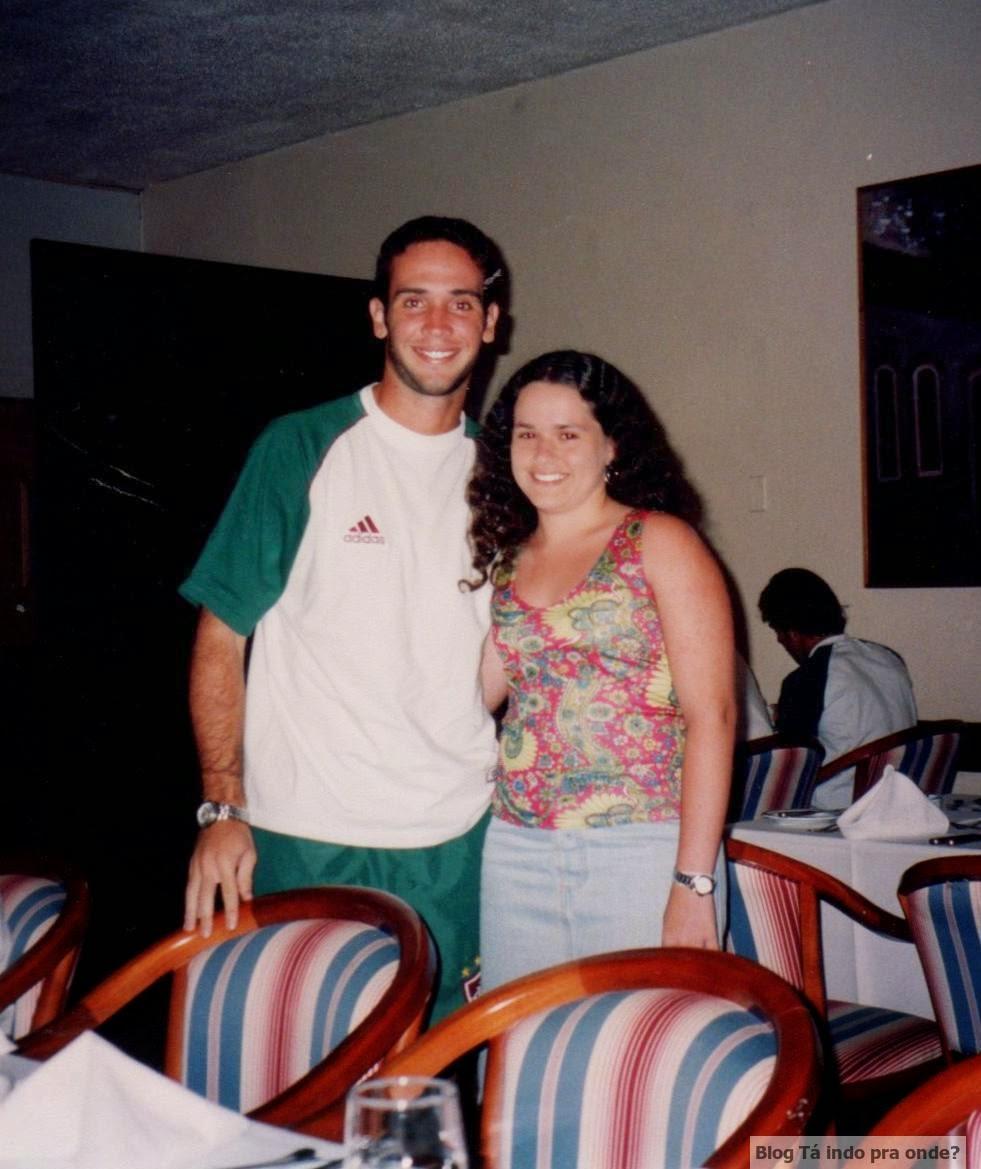 encontrando o ex-jogador Caio Ribeiro