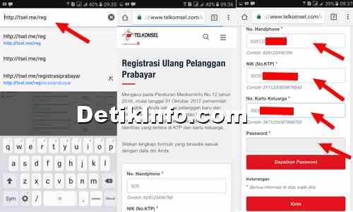 Cara Registrasi ulang kartu Telkomsel via Online  Anti Gagal  Detik Info