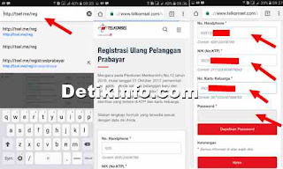 isian data registrasi ionline kartu telkomsel