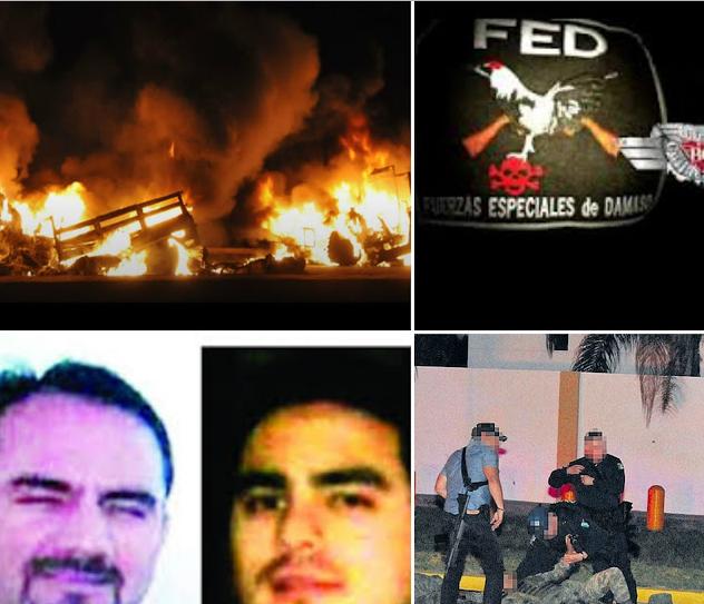 """LAS FED; Fuerzas Especiales Damaso se """"atribuyen"""" emboscada de Militares en Culiacán y amenazan con repetir lo mismo en La Paz BC"""