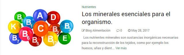 Los minerales esenciales para el organismo.