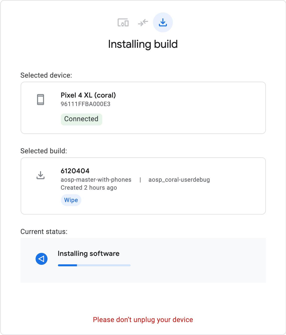 installing build
