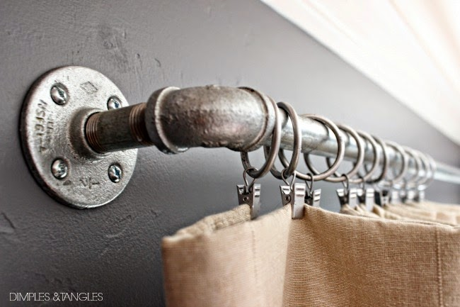 Customizing Ikea Curtains And A Diy Industrial Curtain Rod Dimples