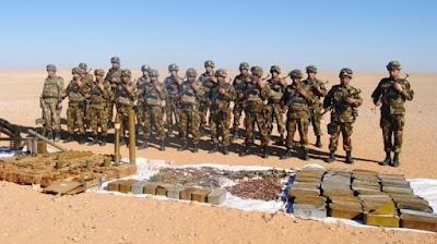 الكشف عن مخبأ للأسلحة والذخيرة بالجزائر