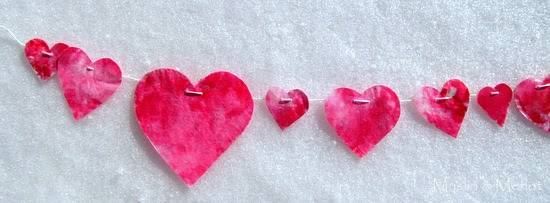 Melted Marbled Valentine Hearts
