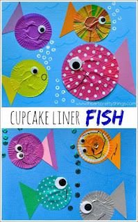 Cucpcake Liner Fish Craft
