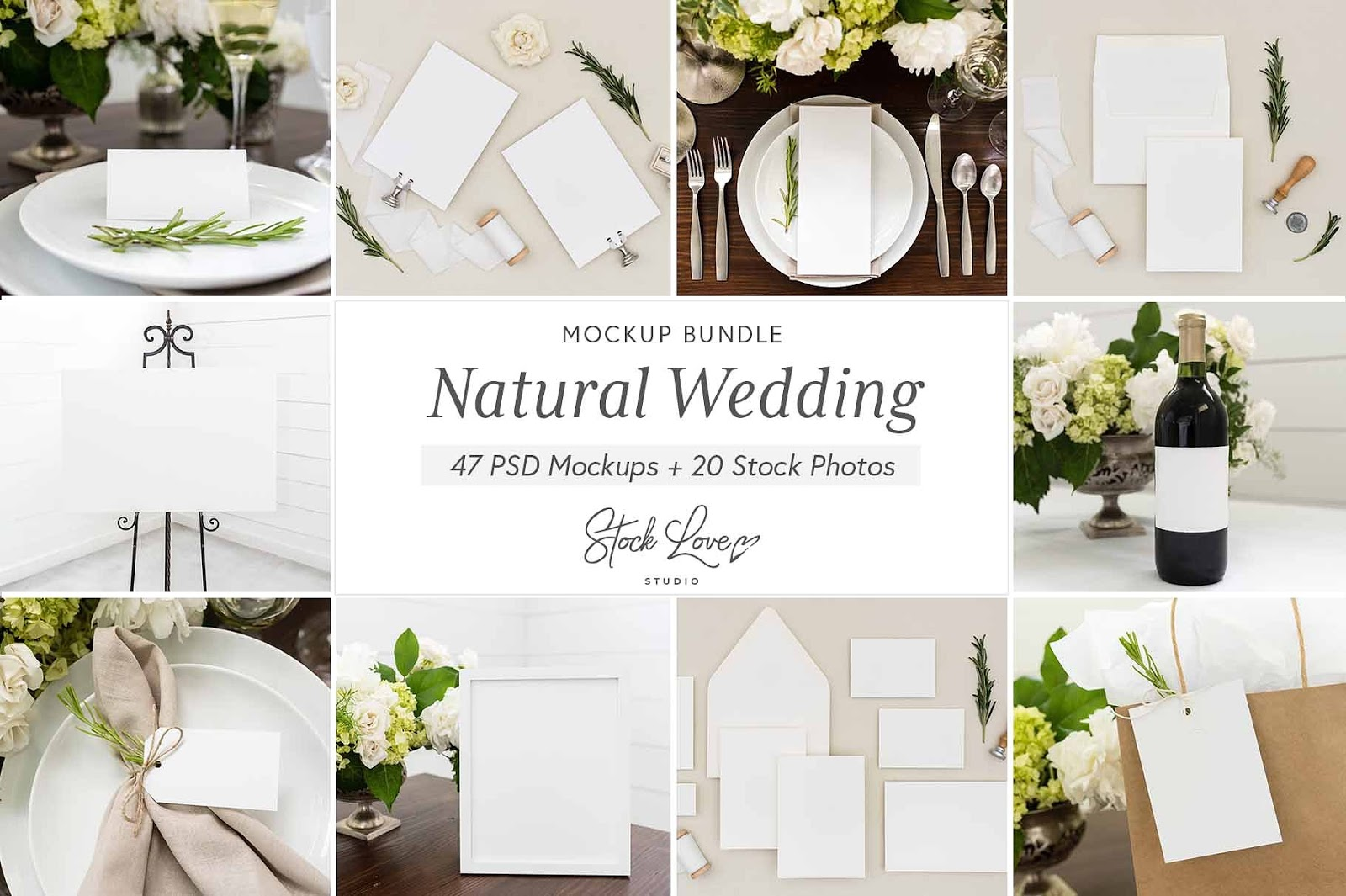 Natural Wedding Mockup Bundle