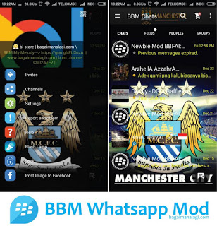 Download BBM Whatsapp Mod Manchester City