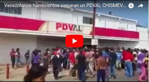 Pueblo hambriento saqueó el PDVAL de la costa oriental del Lago en el Zulia