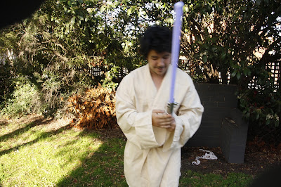 Adam dressed as Luke Skywalker