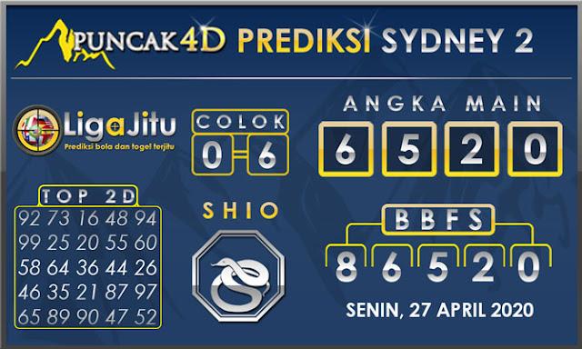 PREDIKSI TOGEL SYDNEY2 PUNCAK4D 27 APRIL 2020
