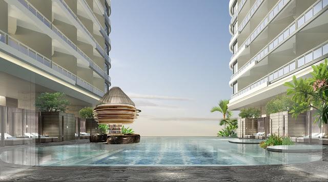 Bể bơi dự án căn hộ laluna resort nha trang
