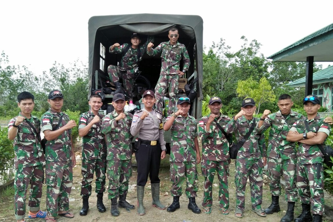 TNI dan Polri Perbatasaan di Kapuas Hulu Siap Berantas Kejahatan
