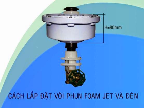 cách lắp đặt đèn led âm nước 12w với vòi phun Foam Jet