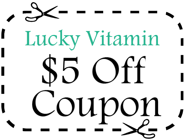 Save $5 on your Lucky Vitamin Purchase with coupon code for 2018-2019