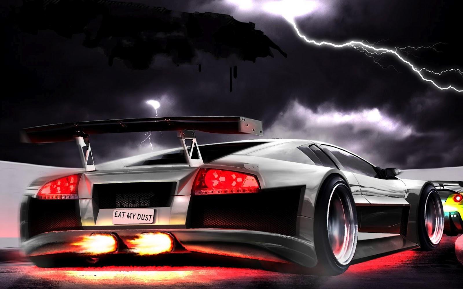 digital car desktop background